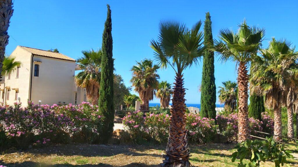 Villa Adriana con vista mare